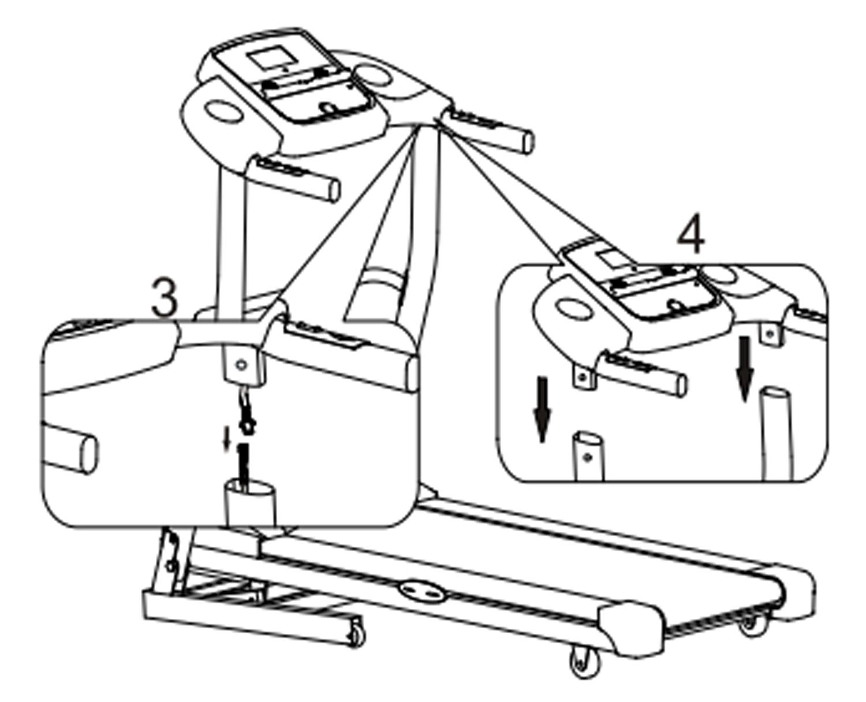 Laufband-Aufbau-F26-Sportstech Schritt 3 und 4