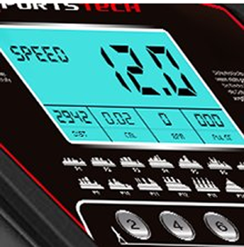 Laufband-Test-Sportstech-F15-Display