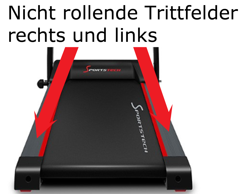 Laufband Test Sportstech F15 Trittfelder
