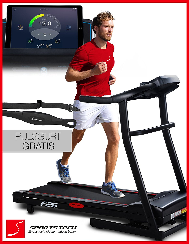 Laufband mit Steigung 15 Grad Sportstech F26