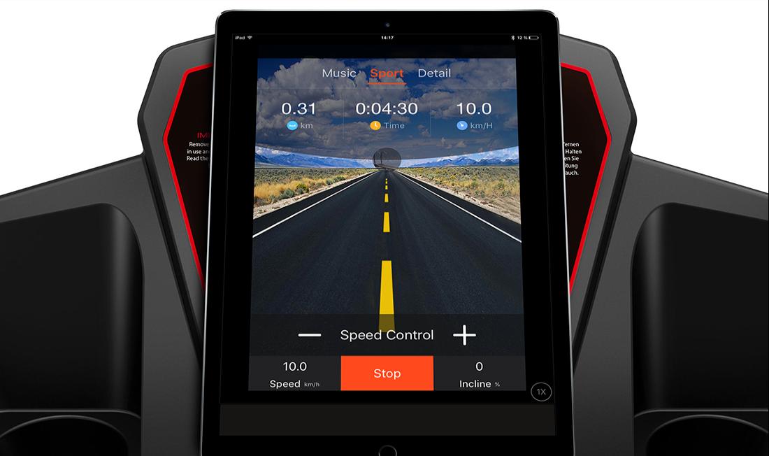 Laufband test Sportstech F15 App Funktion