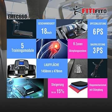 Laufband Fitifito 660B Funktionen