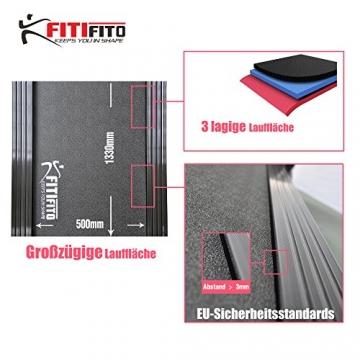 Laufband Fitifito 8500 3 lagige Lauffläche