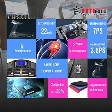Laufband Fitifito 8500 Ausstattung